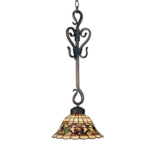 (Alumbrada Collection Tiffany Buckingham 1 Light Pendant In Vintage Antique)
