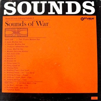 Sounds Of War - Sound Effects Library Volume 9: Twin Vickers Machine Gun, Air Raid Alert-City by Off Beat Records
