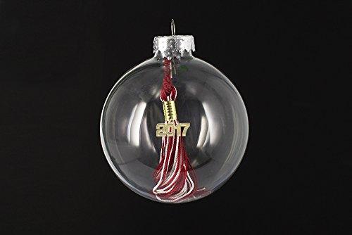 Graduation Tassel 2008 - Tassel Depot Graduation Ornament with 2008 Tassel - RED / WHITE