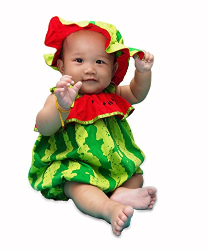I-Fame Infant Unisex Baby Fancy Watermelon Costume 100% Cotton (Watermelon M, 7-15 months)
