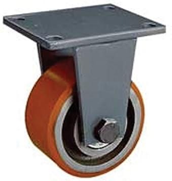 500 mm fabricado rueda fija con rueda de hierro fundido de poliéster: Amazon.es: Bricolaje y herramientas