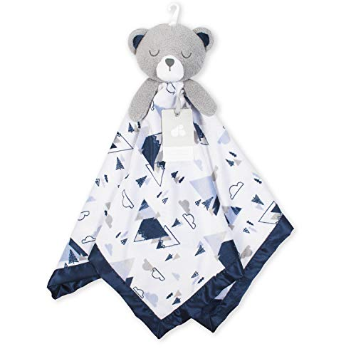 (Just Born XL Security Blanket, Navy Bear, One Size)