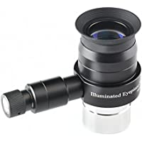 Solomark 25mm Illuminated Telescope Eyepiece - 1.25 Inch Super Plossl Eyepiece and Adjustable Brightness LED Illuminator(Not Include the Batteries)