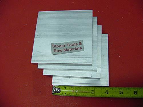 4 Pieces 1/4'' X 4'' Aluminum 6061 Flat BAR 5'' Long T6511 .25'' Plate Mill Stock