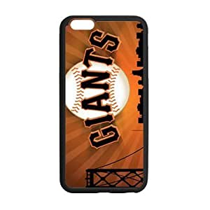 Fashion Popular Black Orange San Francisco Giants Baseball Team Sport Iphone 6 plus 5.5 Case Shell Cover (Laser Technology) by supermalls