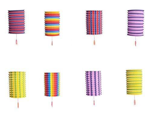 Set Of 8 Rainbow Colorful Cool Festival Party Celebration Home Decor (Lantern Festival)