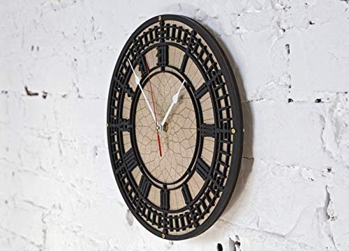 Amazon.com: BIG BEN Handcrafted wooden wall clock Unique Vintage large housewarming one-of-a-kind victorian home decor gift london tower england: Handmade