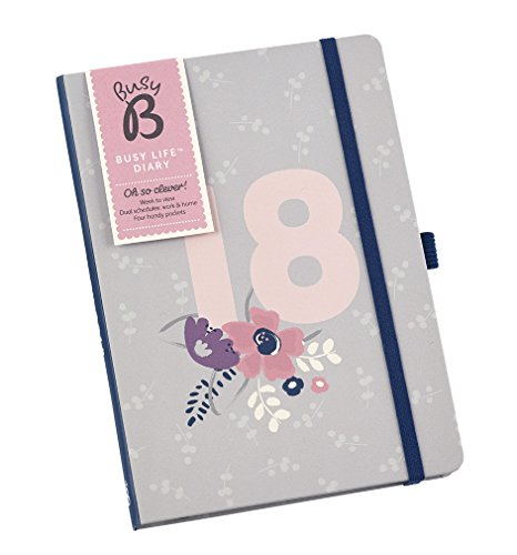 Busy B 2018 Busy Life Diary - A5 Week to View Agenda Planner with Pockets and Dual - Dual View Weekly