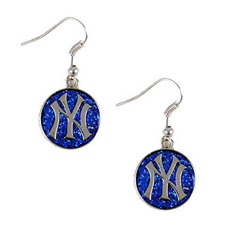 - MLB New York Yankees Glitter Dangler Earrings