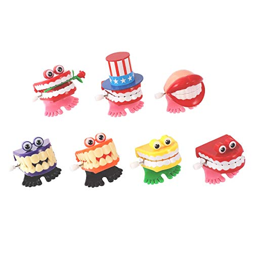 ZHONGRUIYONGQIANG7 개가 지껄이 치아 바람을 걷는 장난감 치아를 개그 농담 장난감을 재미있는 작은 발에 참신하고 개그의 선물