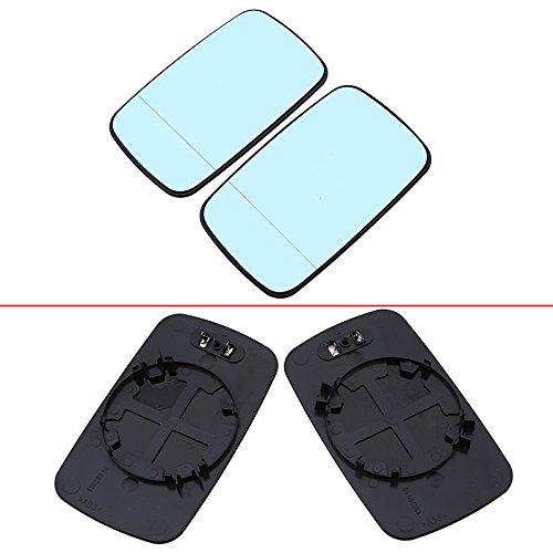 A Pair Blue Car Mirror Glass For BMW 3 Series E46 1998-2006 51168250438