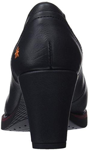 Memphis Tacón Punta Con Para black Cerrada Zapatos Black Negro Art Mujer De gdw4BxWq