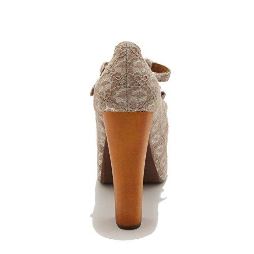69609 Bianco Tortora Foxy Women Donna Jeffrey Luanne Campbell Shoes Scarpa RwHHA