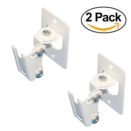 2 x SONOS PLAY 1 Wall Mount, Twin Pack, (NOT Compatible with SONOS ONE) Adjustable Swivel & Tilt Mechanism, 2 Brackets For Play:1 Speaker with Mounting Accessories, White (Uk Home Furniture 1)