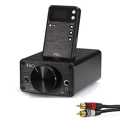 FiiO E09K High Output Desktop Headphone Amplifier with E17 Alpen Portable Amplifier with RCA-to-RCA Cable Kit