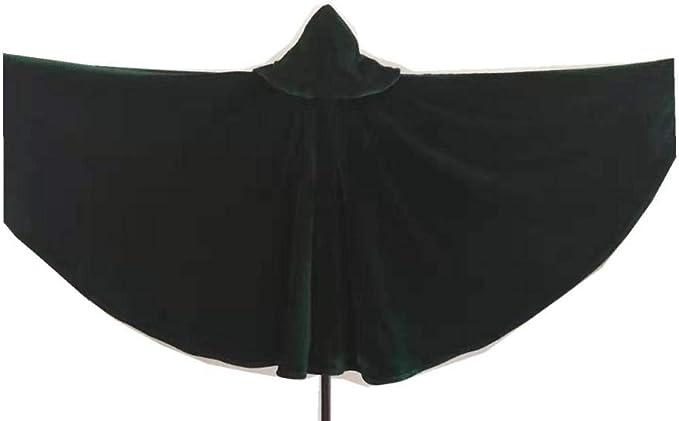 HMShun Capa De Halloween Verde Oscuro, Capa De Hechicero ...