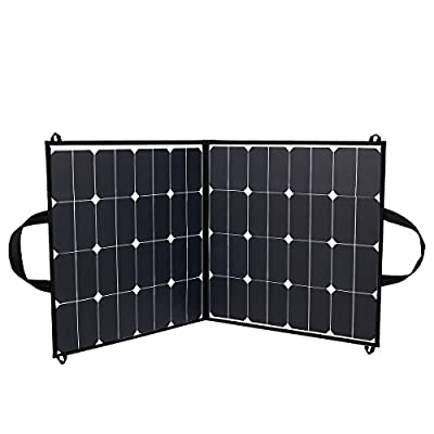 Upgraded Sunpower Solar Panel 5.5A 18V 100W Portable Foldable Solar Panel Charger for Outdoors , Hunting, Hiking, Camping, Fishing, RV,Boat