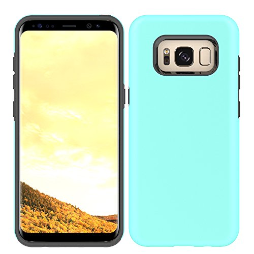 Price comparison product image Galaxy S8 Plus Slim Case, HLCT Slim Fit Interior TPU Bumper and Hard PC Back Hybrid Dual-Layer Cover (Teal)