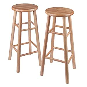 Tremendous Amazon Com Winsome Wood S 2 Wood 30 Inch Bar Stools Gmtry Best Dining Table And Chair Ideas Images Gmtryco