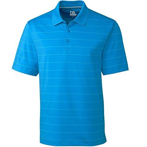 [Cutter & Buck Mens Drytec Arlington Stripe Polo Pink 2Xl] (Cutter Buck Logo Shirts)