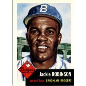 1953 Topps Archives (1991) Baseball Card #1 Jackie Robinson Brooklyn Dodgers shipped in a protective acrylic screwdown case (MOVIE - 42)