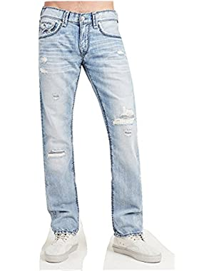 Men's Straight Leg Relaxed Fit Mega T Destruct Jeans in Eighty Six