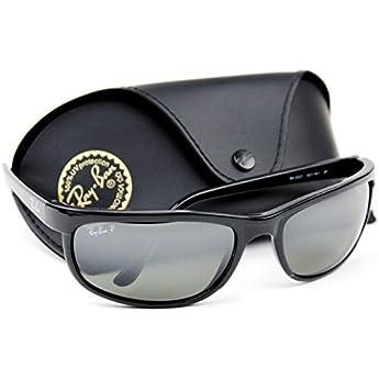 152908e1e5 Ray-Ban RB2027 601 W1 PREDATOR 2 Sunglasses Black  Crystal Polarized Mirror  Grey
