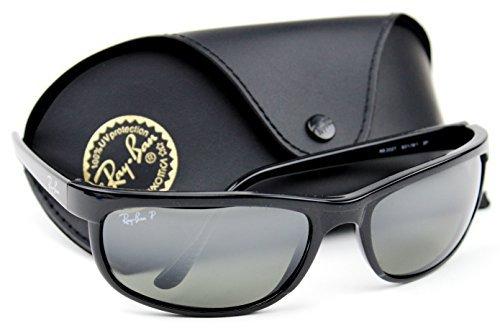 Ray-Ban RB2027 601/W1 PREDATOR 2 Sunglasses Black /Crystal Polarized Mirror Grey Lens.