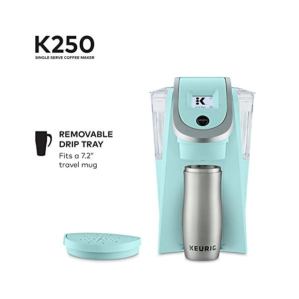 Keurig K250 Coffee Maker, Single Serve K-Cup Pod Coffee Brewer, With Strength Control, Oasis 2