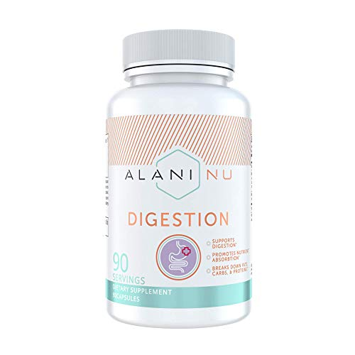 Alani Nu Digestion, Digestive Enzymes, Anti Bloating, 90 Capsules, 90 Servings
