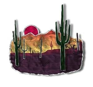 Amazon.com: 24x17 Desert landscape metal wall art, modern ...