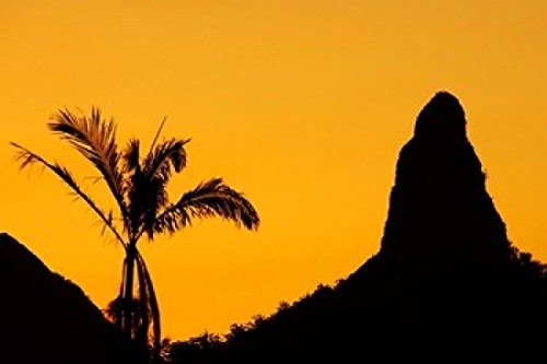 (Posterazzi Sunset Over Glass House Mountains Sunshine Coast Queensland Australia Poster Print by David Wall, (26 x)