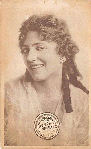 Theater Actor/Actress Old Vintage Antique Postcard Post Card, Postales, Postkaarten, Kartpostal, Cartes, Postkarte, Ansichtskarte Helen Holmes in A Lass of the Lumberlands Writing on back