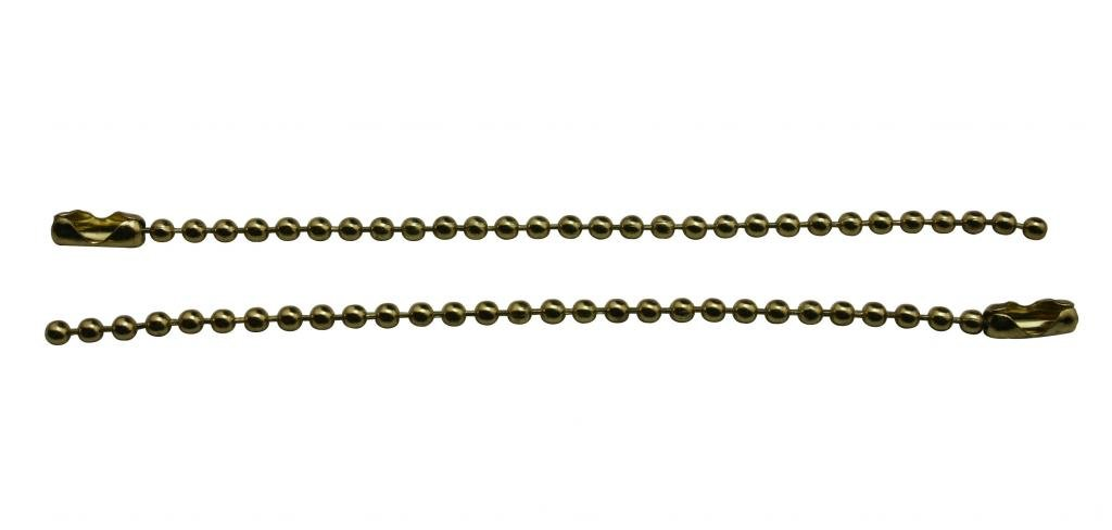 Amanaote Metal Golden 4 Key Ring Chain Tag Ball 0.1 Chain Bead Pack of 40