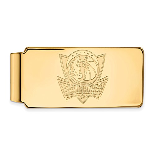 NBA Dallas Mavericks Money Clip in 10K Yellow Gold by LogoArt