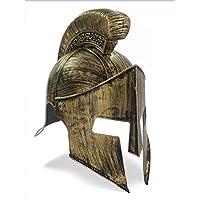 Elmo Capacete 300 Gladiador Medieval Romano Fantasia Cor Dourado