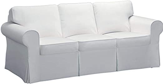 Amazon Com The Sofa Cover Is 3 Seat Sofa Slipcover Replacement It Fits Pottery Barn Pb Basic Three Seat Sofa Basic Cotton White Kitchen Dining