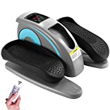 Fast88 Electric Elliptical Machine Trainer,Desk Elliptical with Built in Display Monitor, Quiet & Compact (Grey)