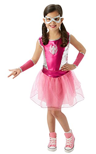 Child Deluxe Spidergirl Costumes (Rubie's Marvel Universe Classic Collection Pink Spider-Girl Costume, Child Small)
