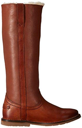 Frye Celia de la mujer SHEARLING Tall botas de invierno Coñac