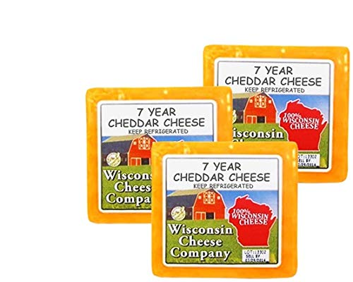 (WISCONSIN CHEESE COMPANY - 7 Year Old Aged Yellow Cheddar Cheese (7.75oz 3-ct))