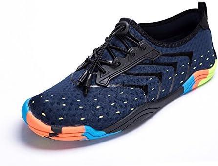 FEIFAN Womens Water Shoes Beach Swim Barefoot Adult Aqua Shoes for Walking Yoga Kayaking Blue 35