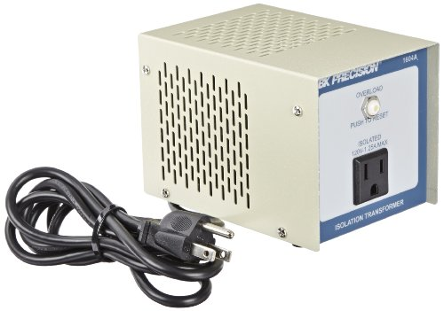 "B&K Precision 1604A Single Output Isolation Transformer, 4"" H x 4"" W x 5.5"" D"