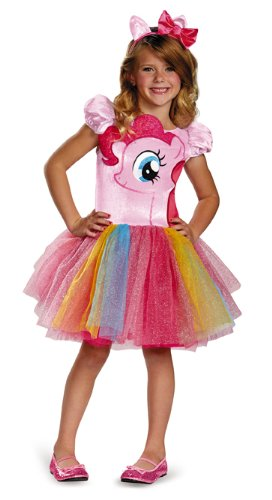My Little Pony Pinkie Pie Costume (Disguise Hasbro's My Little Pony Pinkie Pie Tutu Prestige Girls Costume, Small/4-6x)