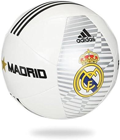 adidas Real Madrid Size 5 Balón de fútbol, Unisex, Blanco/Negro ...