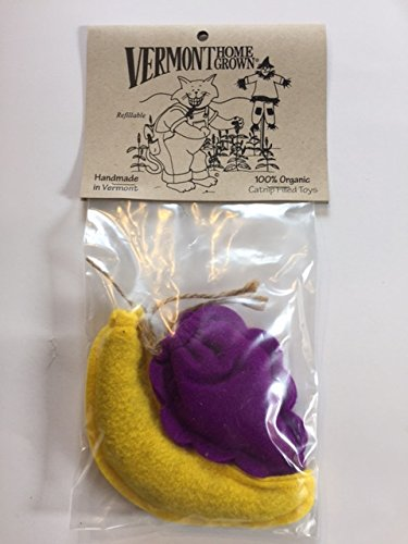 Banana & Grape Refillable 2 Pack Organic Catnip Toy