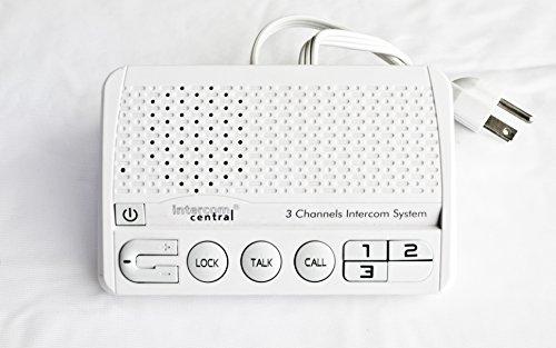 Intercom Central 413 - Three Channels HOME Power-line Intercom System, 3 Wire , White, Three Stations Set