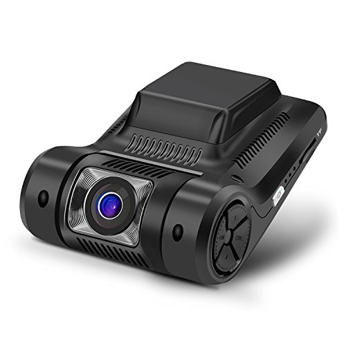 "MiKiZ Dash Cam FHD 1080P Car Camera Recorder 2.45"" LCD 170 Degree Wide Angle Dashboard Car DVR with Sony Video Sensor WDR G-Sensor Loop Recording and Motion Detection"