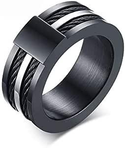 Ring Men's Stainless Steel Wia Ring Creative Korean Black
