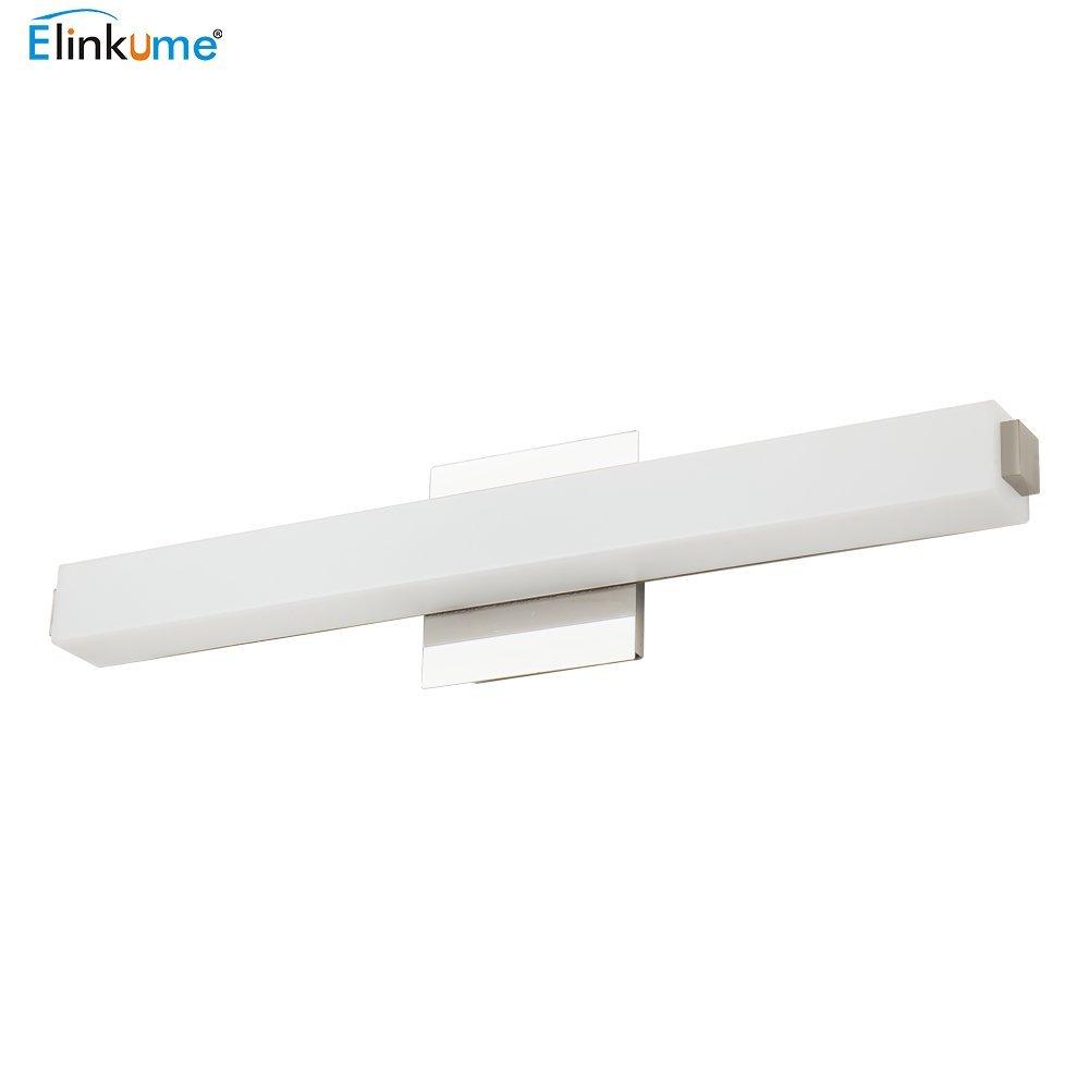ELINKUME LED Spiegelleuchte 14W Spiegellampe Badlampe, 1190LM, Wandbeleuchtung Spiegelschrank Lampe, AC 220V Warmweiß 61cm